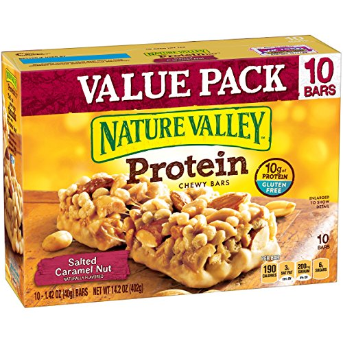 Nature Valley Chewy Granola Bar, Protein, Salted Caramel Nut, 10 Bars - 1.4 oz by Nature Valley