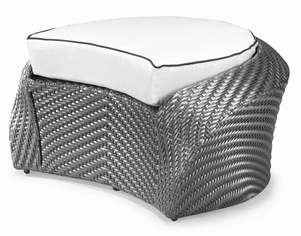 100Essentials Eclipse Foot Stool with Cushion, Light Sky Blue by 100 Essentials