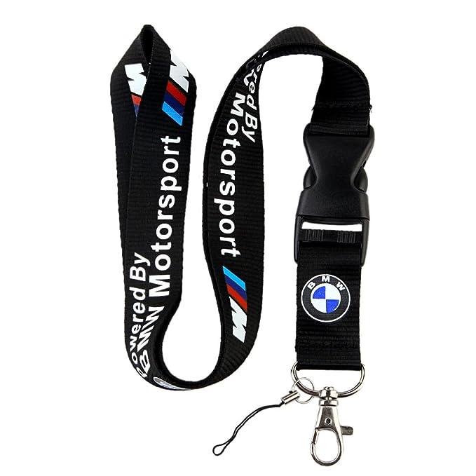 Amazon.com: BMW llavero con logotipo de Motosport, correa de ...