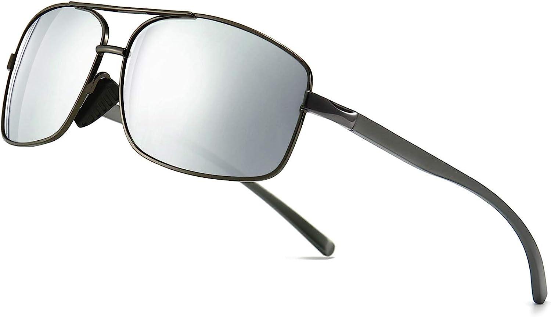 SUNGAIT Ultra Lightweight Rectangular Polarized Sunglasses Man UV400 Protection