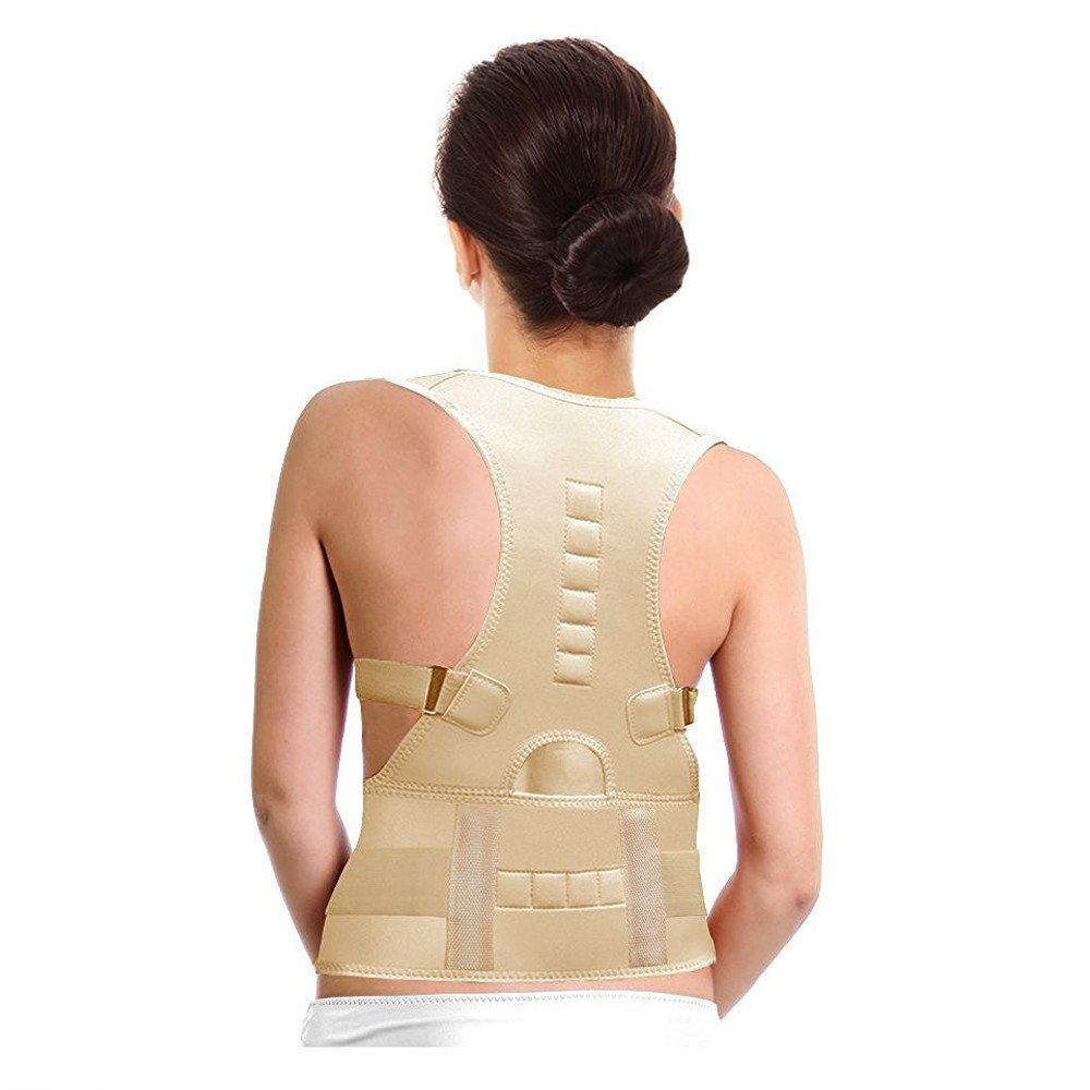 PU Health Pure Acoustics Top Quality Back Brace Belt Magnetic Therapy Posture Support and Correction