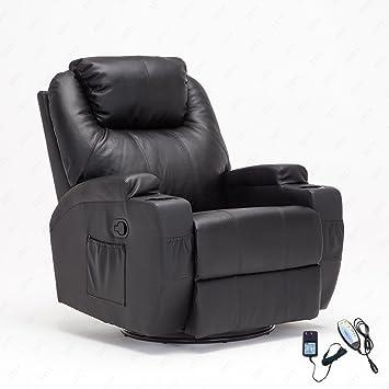 Amazoncom RECLINER GENIUS Leather Massage Recliner Chair 360