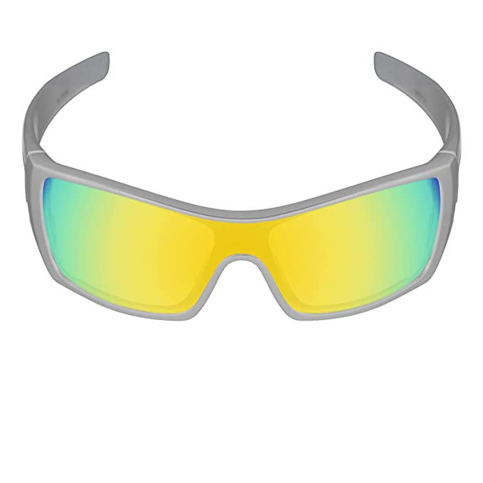 bf6b3e93a95 Amazon.com  Galvanic Replacement Lenses for Oakley Batwolf Sunglasses - 24k  Polarized  Clothing