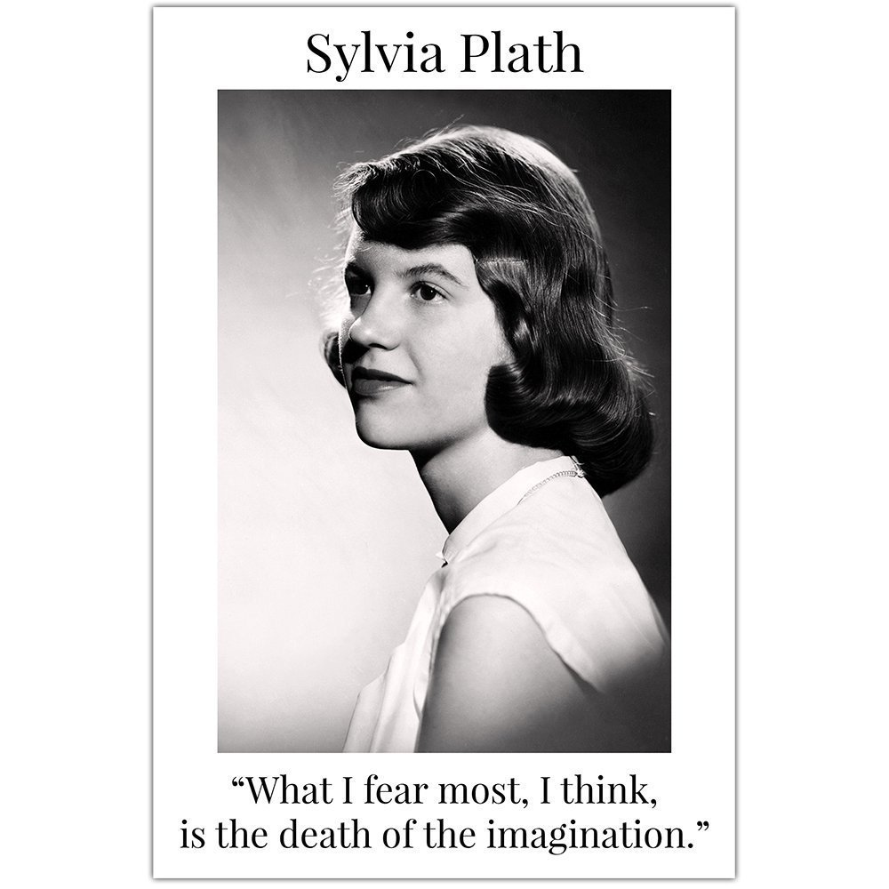 Sylvia Plath Death Of Imagination Quote Wall Art Classroom Décor Poster
