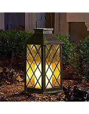 Lantern Candle voor buiten, lantaarn met kaarsen lichteffect lamp licht voor decoratie tuin, terras, achtertuin en paden