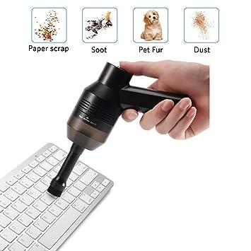 KINGCOOO - Limpiador de teclados, USB, recargable, mini limpiador de escritorio inalámbrico para ordenador, mejor limpiador para la limpieza de pelos de ...