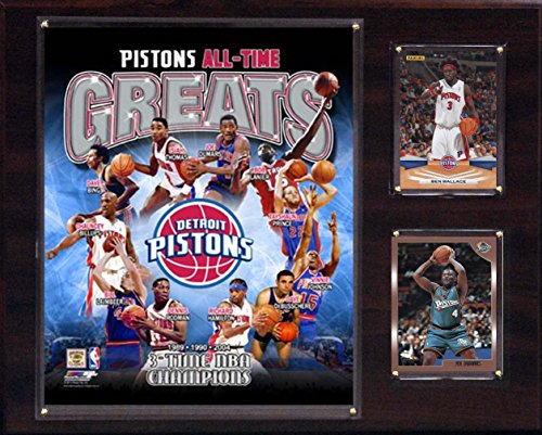 NBA Detroit Pistons All-Time Great Photo Plaque, 12 x 15-Inch by C&I Collectables