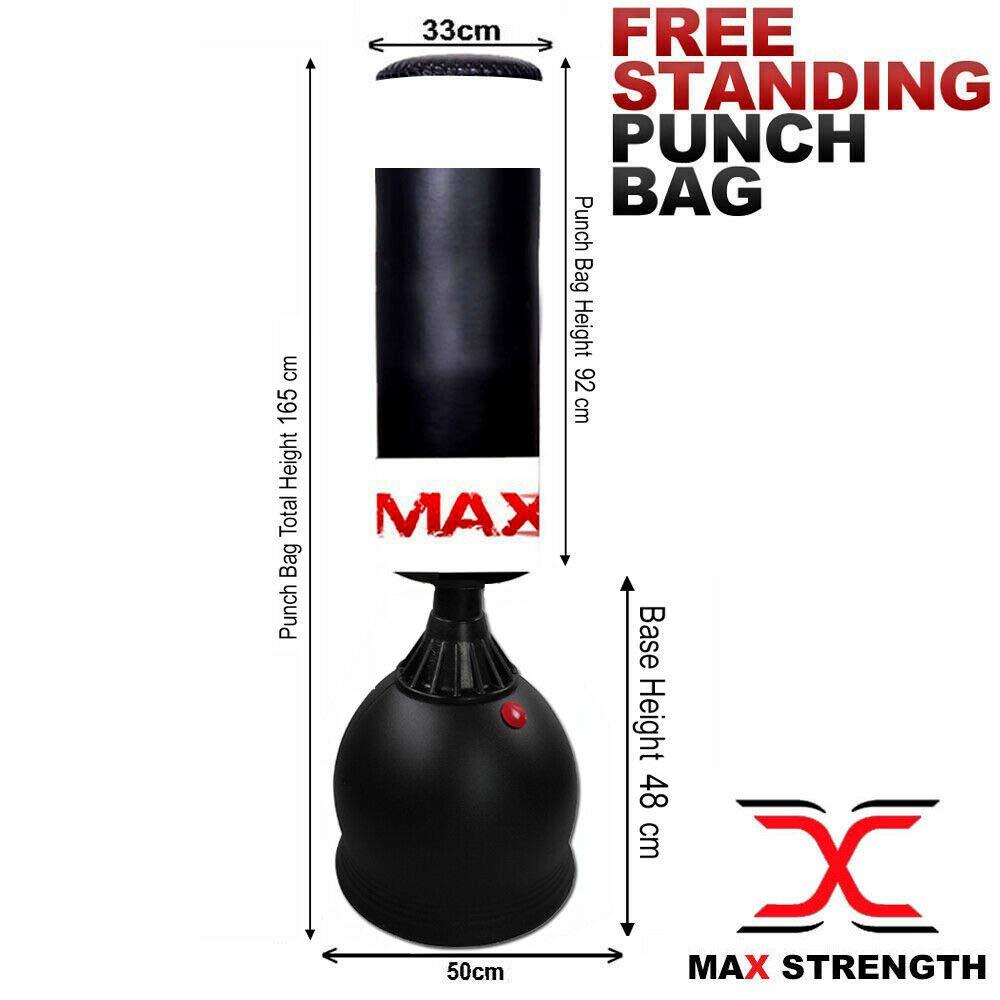 MAXSTRENGTH 5.5Ft Boxing Free Standing Punch Bag Kick Heavy Duty MMA UFC Martial Art Training