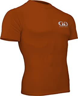 product image for HT-603S-CB Fitness Compression Fit, Short Sleeve Crew Neck Shirt-Track, Soccer, Football, Weight Training, Lacrosse-Sweat Transfer Technology (XXX-Large, Texas Orange)