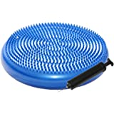 ResultSport® Wobble Cushion 34cm with Pump - Improves Posture - Core Training - Anti-Slip Surface - Supports Muscle - Comfortable - Child Friendly -Encourages Active Sitting for Kids
