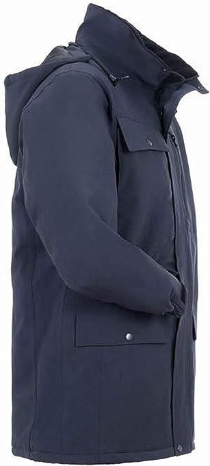 Medium Planam 3686048Outdoor Protective Secu Parka Protective Jackets Marine