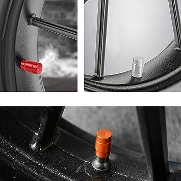 YOU.S Alu Ventilkappen Orange mit Silberringen mit Dichtung Ventil Kappen Abdeckung f/ür Auto PKW LKW 4 St/ück