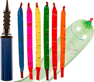 Flyin /& Screamin Rocket Balloons with Air Pump 15-Count