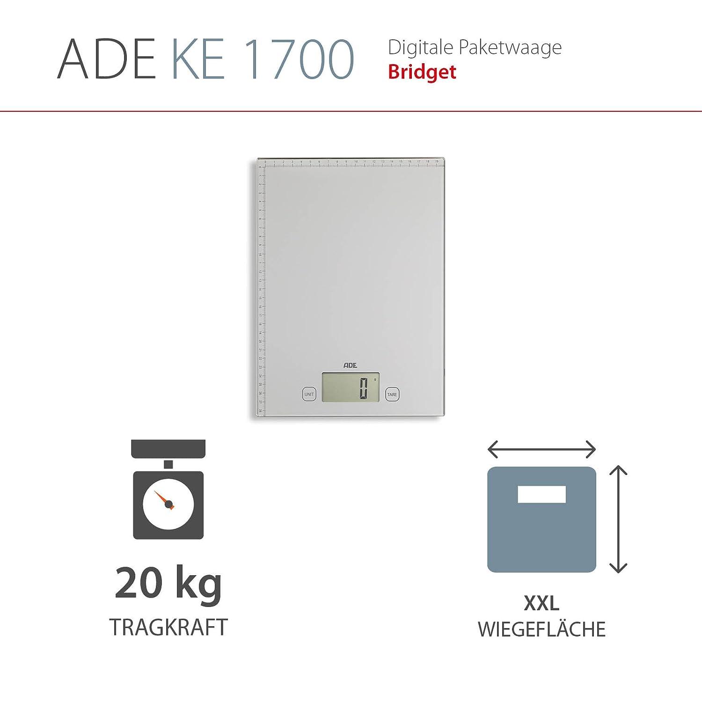 Pesa y mide hasta 20 Kg. Báscula de paquetes. Cinta métrica. Incluye las baterías. Color Plata: Amazon.es: Oficina y papelería