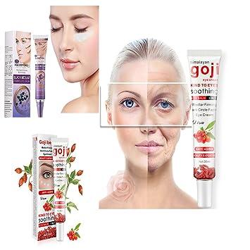 d3a50b9c4eb Amazon.com   Ruier-hui Goji Eye Cream Against Puffiness Remove Dark Circles  Under The Eyes Firming Instantly Ageless Anti-Wrinkle Anti-Puff Cream (Black  ...
