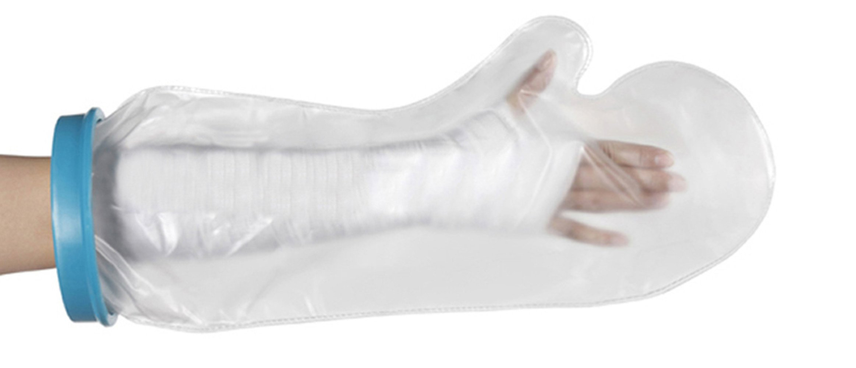 Kids Arm Cast Cover Waterproof Shower Bandage Cast Protector for Shower Bath Watertight Protection to Broken Lower Arm Hand Wrist Fingers Wounds Burns, 100% Reusable Pediatric Arm (20.8''9.4''5.9'')
