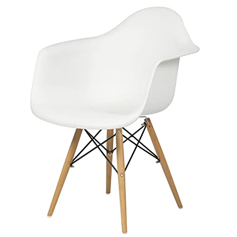 Best Choice Products Eames Style Armchair Mid Century Modern Molded Plastic  Shell Arm Chair
