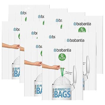 Brabantia dispensador de Bolsas de Basura del Paquete 30 L (g) 40 Unidades, Pack de10