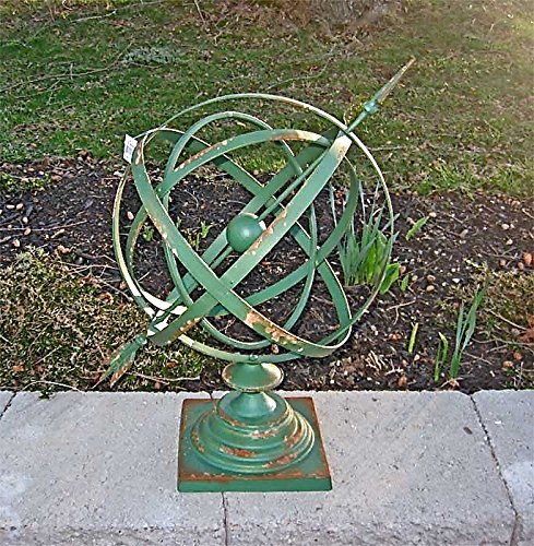"14""Diameter Iron Armillary Sphere/Sundial Rustic Antique ..."