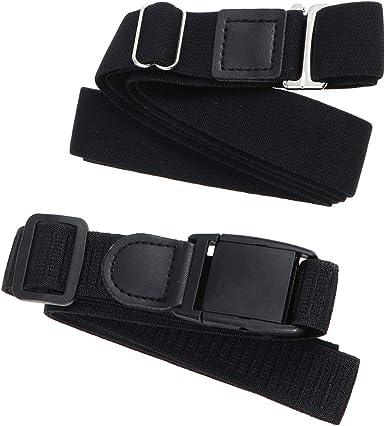 SUPVOX 2 unids Ajustable Sujetador Unisexo Camisa Liga para Camisa Antideslizante Cinturón de Bloqueo Ropa Interior para Mujeres Hombres (Negro): Amazon.es: Ropa y accesorios