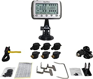 EEZTire-TPMS Real Time/24x7 Tire Pressure Monitoring System (TPMS6FT) - 6 Flow-Through Sensors, incl. 3-Year Warranty