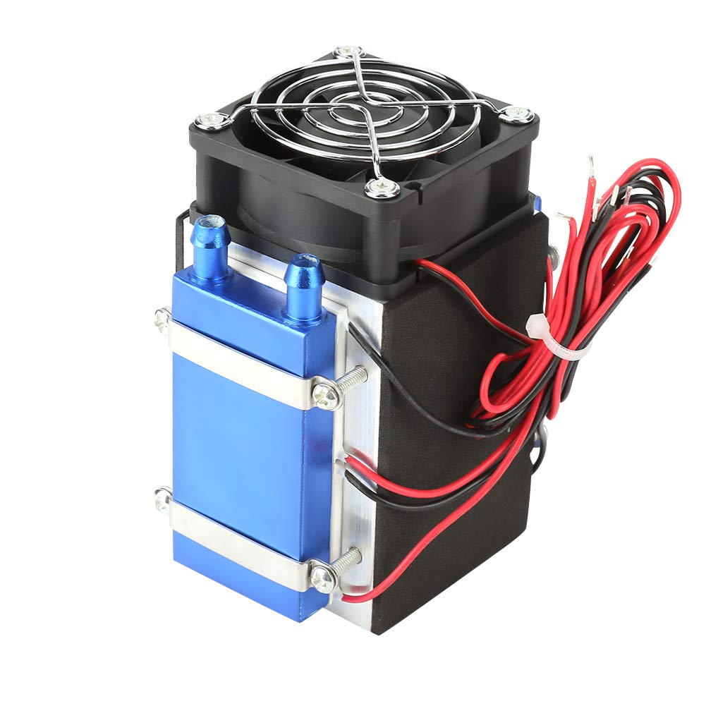 Hilitand Semiconductor Cooler DC 12V 4/6 Chip Semiconductor Refrigeration Machine Cooler DIY Radiator Air Cooling Device(DC 12V 4 Chip) by Hilitand