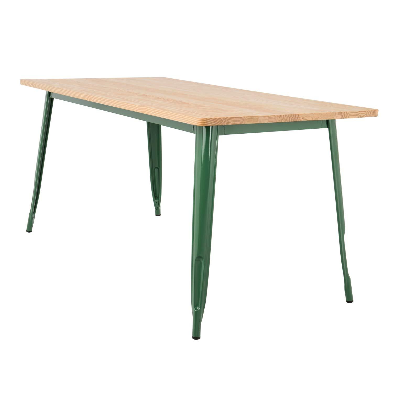 SKLUM Tavolo LIX Legno (160x80) verde Felce - (Scegli Un colore)