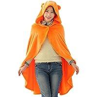 KINOMOTO Anime Cosplay Flannel Cloak Cape Hoodies Coat Daily Nap Throw Shawls Blanket Quilt