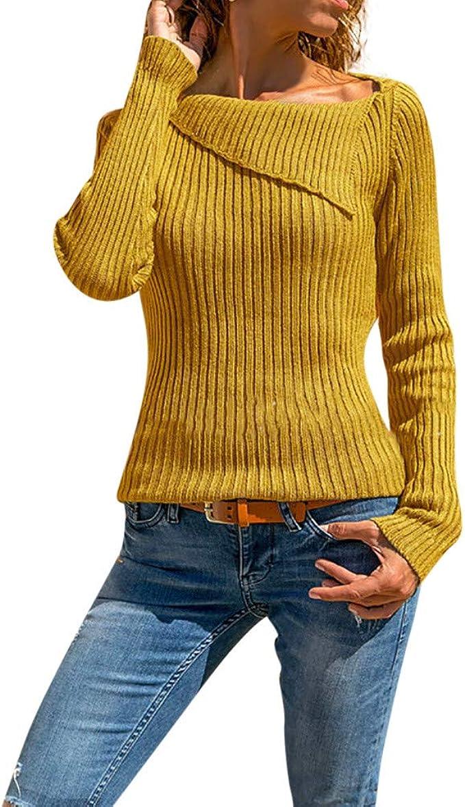 Pullover A Maglia Moda Stile Semplice Maglioni Mohair Donna