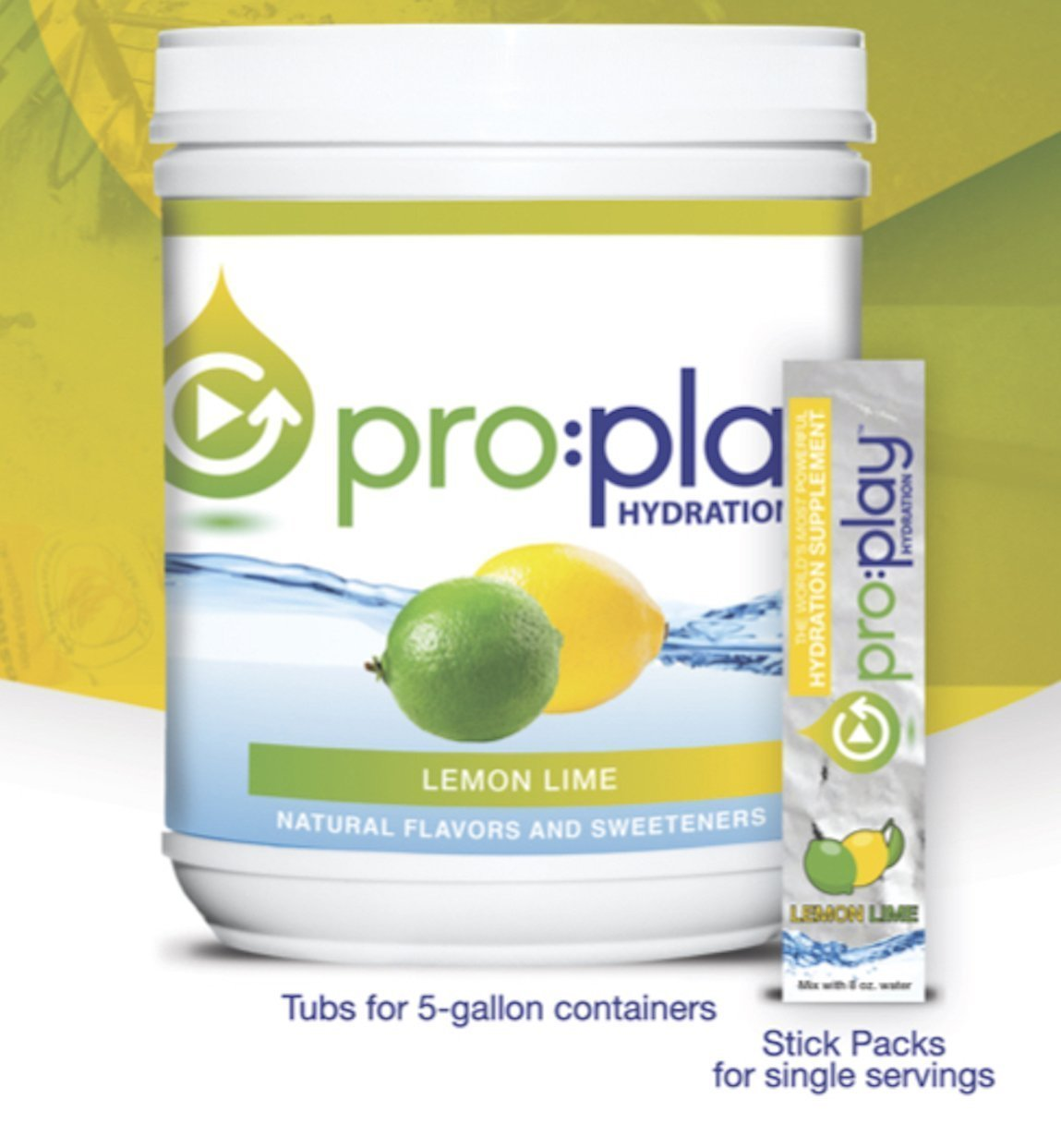 New! Pro:Play® with Magnesium and Sweetened w/Splenda in Delicious Lemon Lime 80 Serving Tub