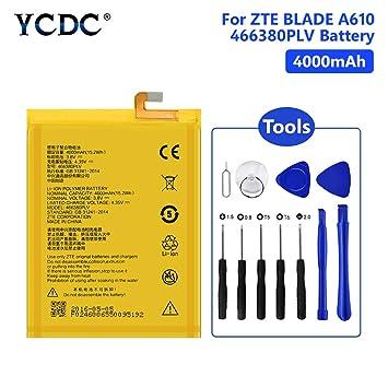 Amazon.com: YCDC 466380PLV - Batería para ZTE Blade A610 V6 ...