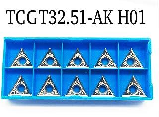 10 PCS RISHET TOOLS TNMG 432 C5 Multi Layer TiN Coated Carbide Inserts