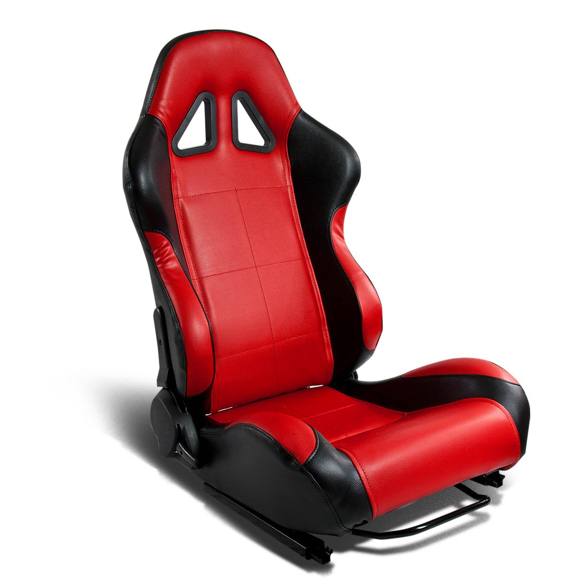 DNA RS-T5-BK-RD-R Red PVC Faux Leather with Black Trim Racing Seat (Right/Passenger Side Only)