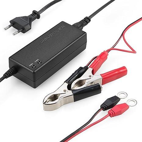 RAVPower Cargador Mantenedor Batería sellada Agli ácido de Plomo ...