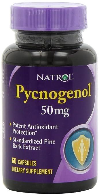 Amazon Com Natrol Pycnogenol 50mg Capsules 60 Count Pack Of 2