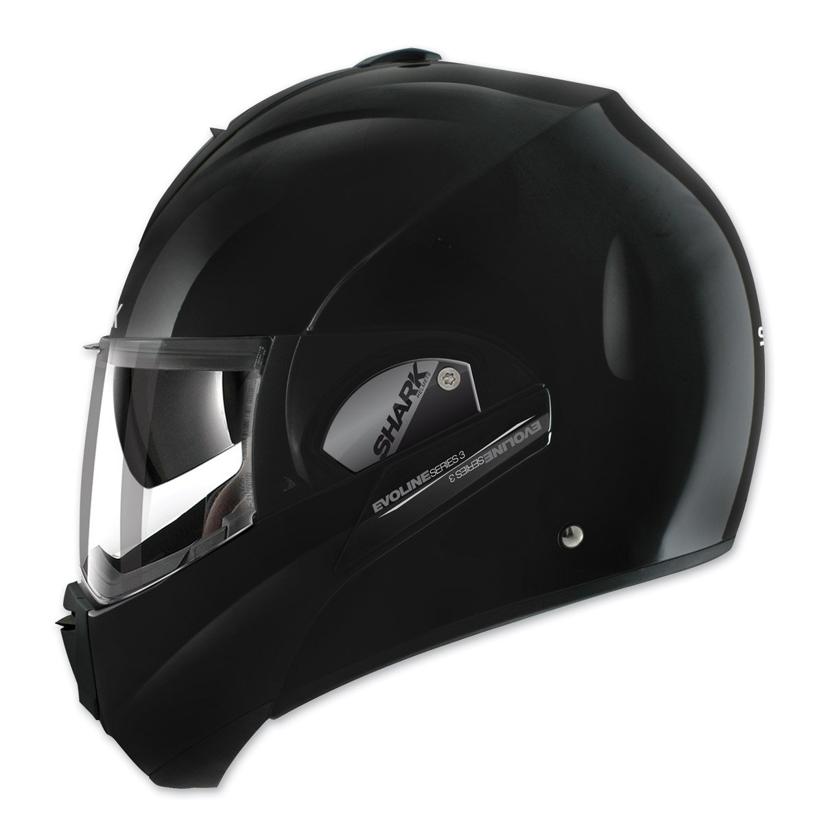 Shark HE9350DBLKM Unisex-Adult Full Face Evoline 3 Uni Helmet (Black, Medium)