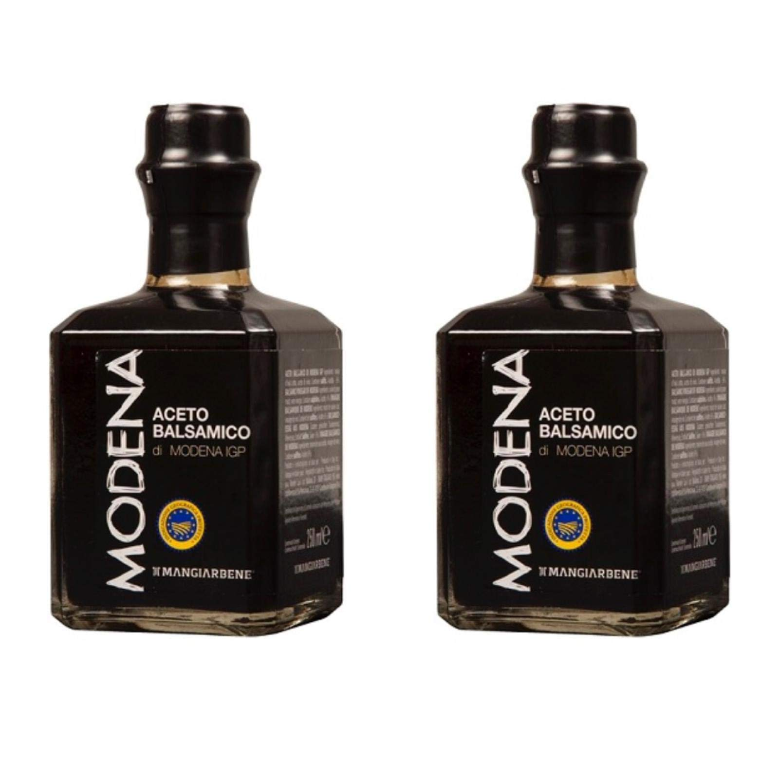 Balsamic Vinegar di Modena IGP (2 x 8.45 Oz) - Certified Product from Italy, by Serendipity Life. Aceto Balsamico IGP Barrel Aged Premium Thick and Glossy for a perfect dressing (250 ml) (2 Pack) by Serendipity Life