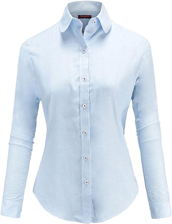 Dioufond - Camisas Oxford para mujer con botones: Amazon.es: Ropa y accesorios