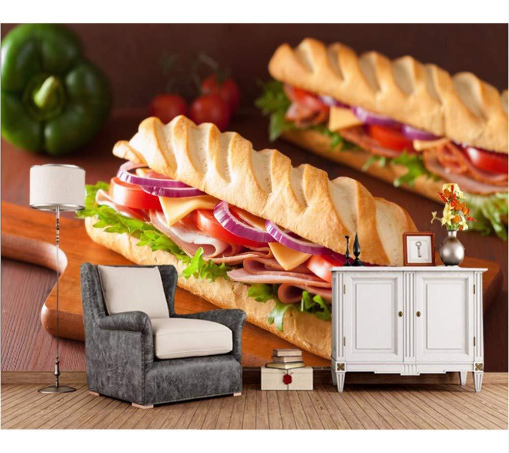 Weaeo Pan Sandwich Ham Tomatoes Food Wallpaper 3D, Comida Rápida ...