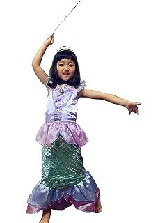 711c1743726cc 子供 人魚姫 リトルマーメイド アリエル 風 プリンセスドレス コスチューム ドレス キッズ ハロウィン 仮装 発表会