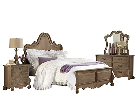 Amazon.com: Capels 5 Piece Queen French Country Bedroom Set ...