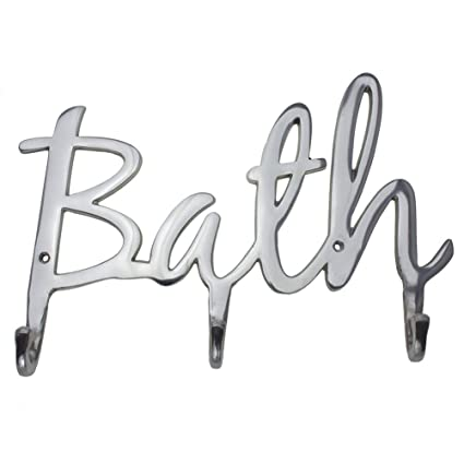 """72983cc836 Comfify Modern Style """"Bath"""" Wall Mount Towel Holder and Robe Hook Hand-Cast"""