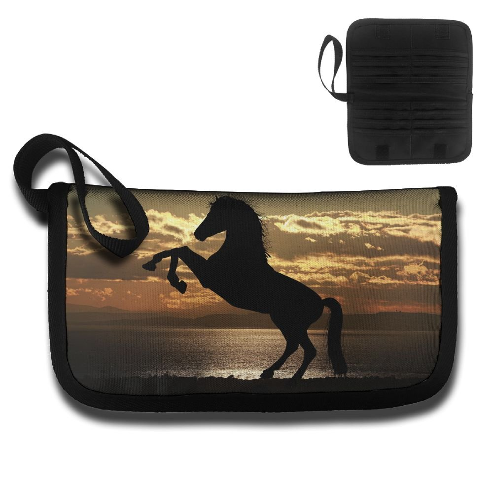Gili Dancing Horse In The Sunset Travel Passport /& Document Organizer Zipper Case