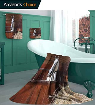 Amazon.com: Horse Decor 100% Cotton Bath Towel Set , Young ... on ranch house traditional, ranch house dining room, ranch kitchen designs, ranch house fireplaces, latest washroom designs, ranch house architecture, ranch house kitchen cabinets, ranch house remodeling, ranch house painting, ranch house decoration, ranch house interior design, ranch house beds, ranch house lighting, ranch house bathroom makeover, ranch office designs, ranch house furniture, ranch house paint, ranch house hardware, ranch house builders, ranch house bedroom,