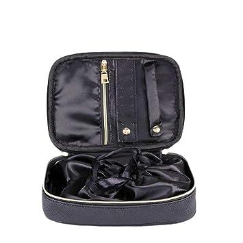Ringe Halsketten Uhren und Ketten-schwarz ProCase Schmuck Travel Case Organizer Tasche weich gepolsterte Doppelschicht Schmuck Tragetasche Portable Schmuck Lagerung Inhaber f/ür Ohrringe