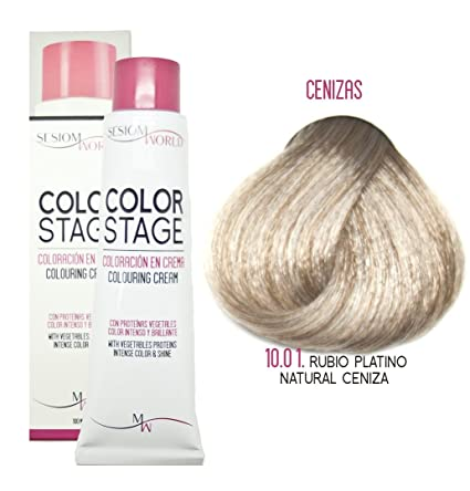 sesioMWorld TINTE EN CREMA COLOR STAGE REF. 10, 01 - RUBIO PLATINO NATURAL CENIZA