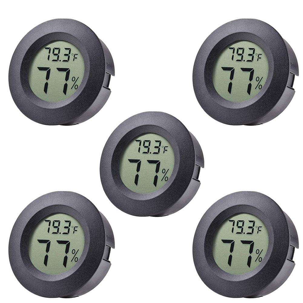 HG Hygrometer Thermometer Digital LCD Monitor Indoor Outdoor Humidity Meter Gauge 5-Pack