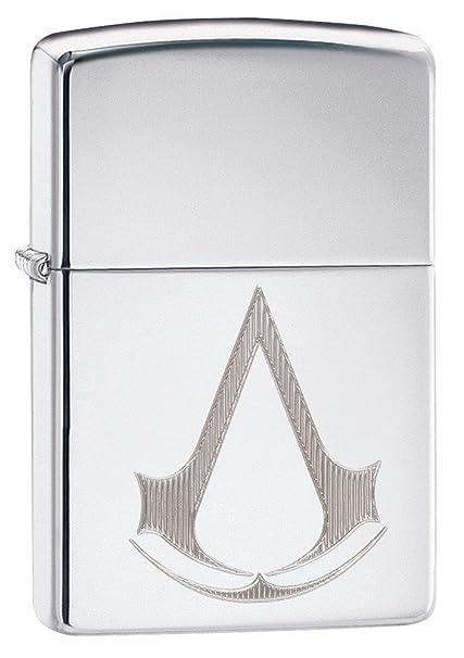 Assassin S Creed Logo Zippo Mechero de interior y exterior para resistente al viento libre