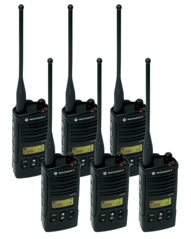 6 Pack of Motorola RDU4160D Two way Radio Walkie Talkies