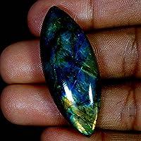 RADHEY KRISHNA GEMS 51.95CTS. 100% natural multi viola flash Marquics labradorite cabochon pietre preziose